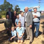 Guy with Michael Ferguson, Shadow Minister for Education at Hagley Farm Primary School