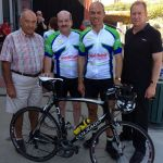 Diabetes Tasmania Pollie Pedal 2014 with Mayor Barry Easther and Dr Andrew Corbett