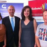 with DIabetes Tasmania CEO Caroline Wells at the launch of the COACH Program in Launceston 14.2.12