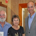 with author Garry Richardson and his wife Mary at Garry's book launch of 'Tin Mountain'