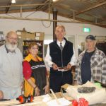 with Graeme, Gillian and Barry at the Oatlands Community Men's Shed